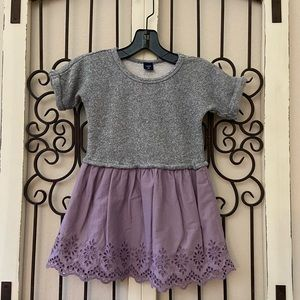 Baby Gap sweater mixed media lace dress 4 toddler